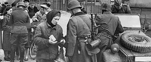 Война. Немецкий патруль