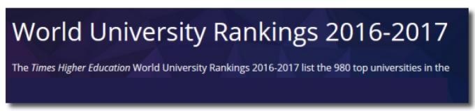 21 июня 2017 — Рейтинг университетов THE-2017
