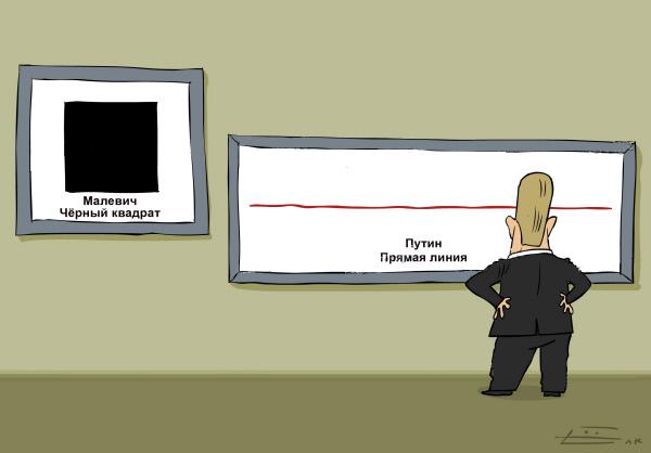 Черный квадрат Малевича и прямая линия Путина