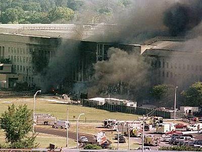 Фотография Пентагона 11 сентября 2001 года