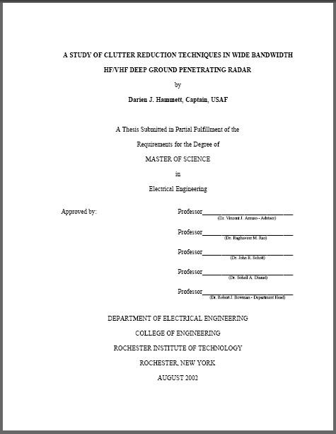 Заметки  Титульный лист магистерской диссертации